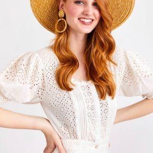 Love Shack Fancy Helena Dress (Ivory)